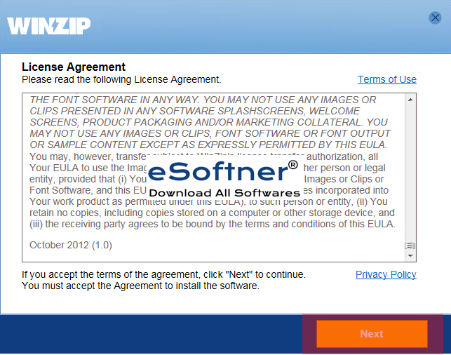 accept user license agreement