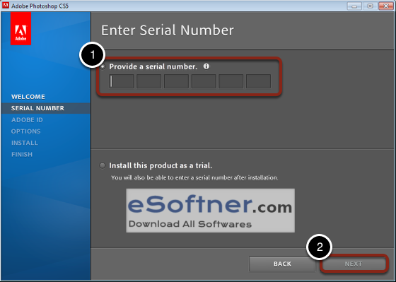 provide a serial number photoshop cs5