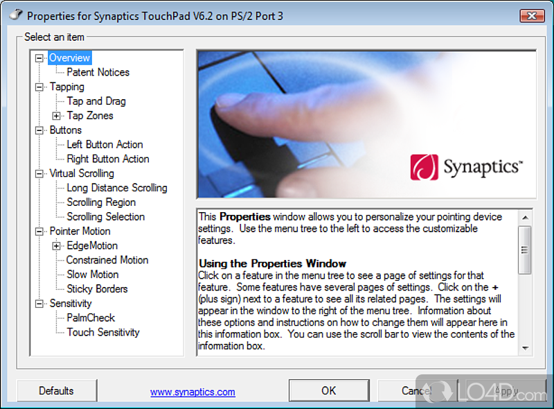 Synaptics Pointing Device Driver Download