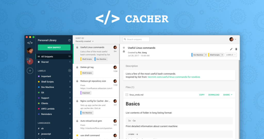 Cacher Free download