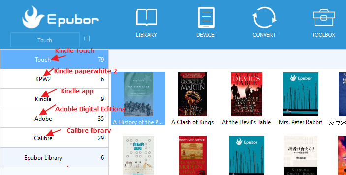 Epubor eBook Manager Free download