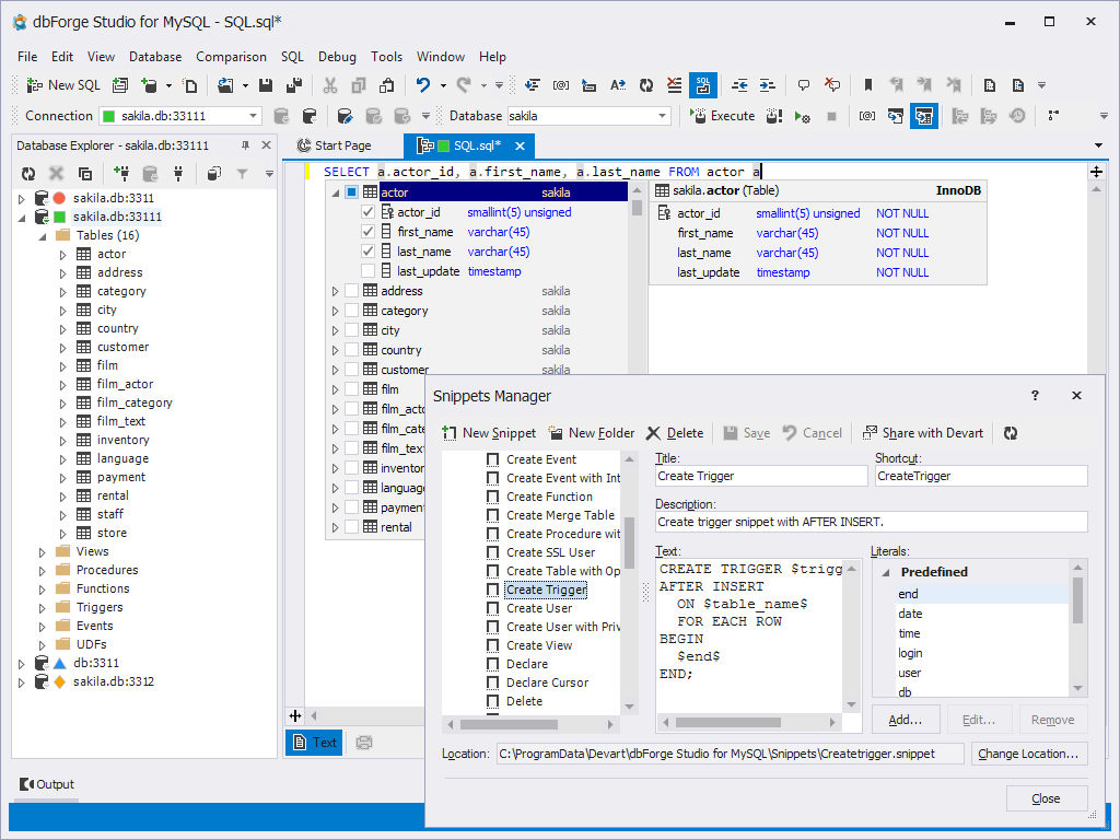 dbForge Studio for MySQL Free Download