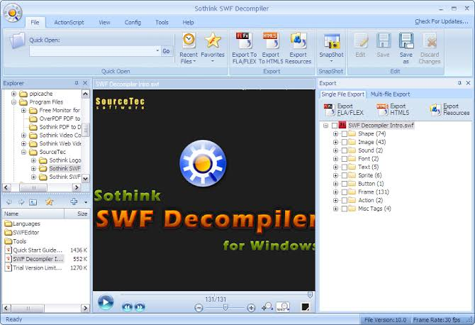 Sothink SWF Decompiler Download
