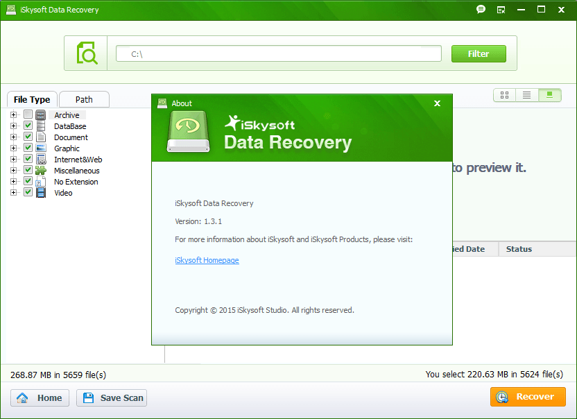 iSkysoft Data Recovery Free Download