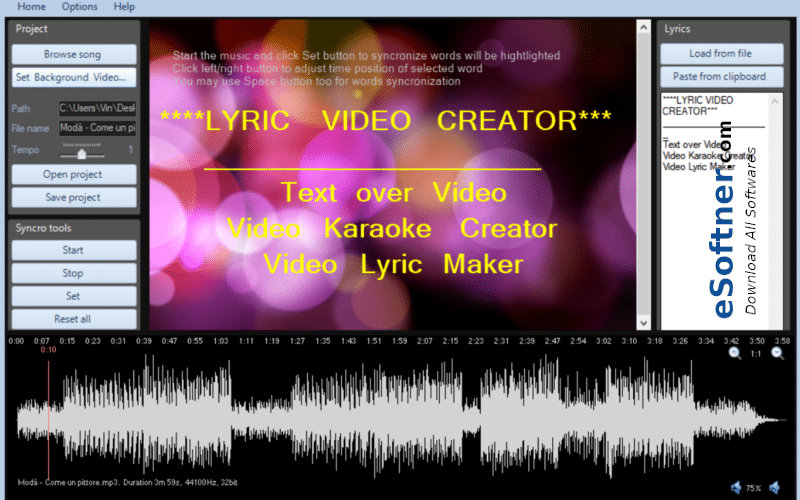 Lyric Video Creator Professional Download
