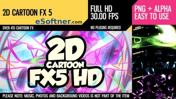 VideoHive – 2D Cartoon FX 5 Free Download