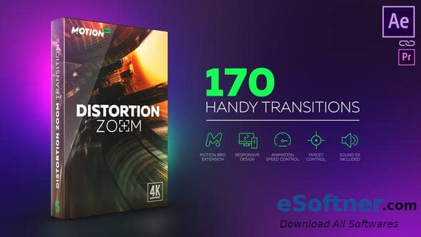 VideoHive – Distortion Zoom Transitions Free Download