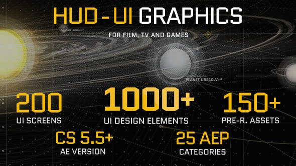 VideoHive HUD - UI Graphics for FILM, TV and GAMES Free Download